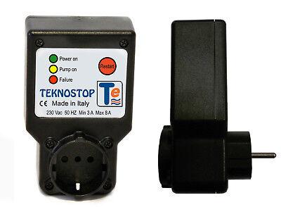teknostop Dry Run Protection for 230V PUMP PUMP CONTROL Press Control