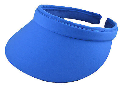 (Cotton Nylon Twill Clip-On Visor-6 royal blue+6 black)