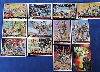 NEW 1994 MARS ATTACKS! Unpublished 11-Card Set #55-66 + #0 Wrapper Card - NM/MT