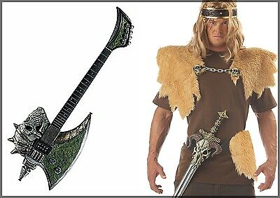 HALLOWEEN COSTUME PROP SKULL Axe Blade Bass Guitar OR SKULL Viking Warrior KIT   - Bass Costume