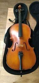 1/8 to 1/4 small cello