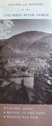 Vintage Brochure Legend History of Columbia River Gorge Locks Bridge Dam OR
