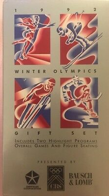 1992 Winter Olympics VHS Overall Games & Figure Skating  Rare Limited Edition
