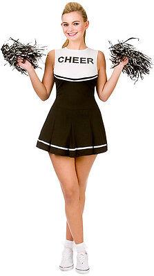 Rachel High School Cheerleader Kostüm schwarz NEU - Damen Karneval Fasching Verk