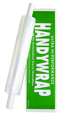 20 Wide 1000 Stretch Wrap With Disposable Extended Core Handles - 80 Guage