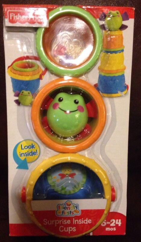 FISHER-PRICE FRIENDLY FIRSTS SURPRISE NESTING CUPS AGES 6-24 MONTHS *NEW