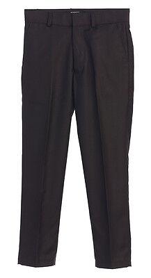 Flat Front Boys Dress Pants Black Gray White Toddler(2T-4T) Kids(4-7)Boys(8-18)  (Boys Flat Front Pants)