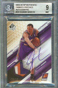 SHAWN MARION 2004-05 SP AUTHENTIC AUTHENTIC PATCHES AU 5/10 #AAP-SH BGS 9/AU 10