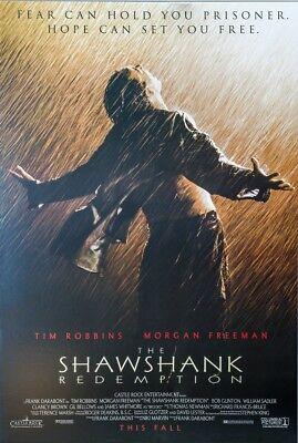 Shawshank Redemption Movie Poster  Usa Version  Size 24 X 36