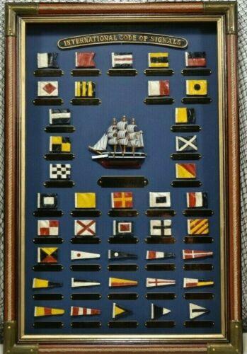 Nautical Flag Shadowbox Box