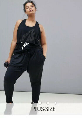 Nike Flow Lux Loose Fit Bottoms 1X XXL UK 20-22 Plus Size Black
