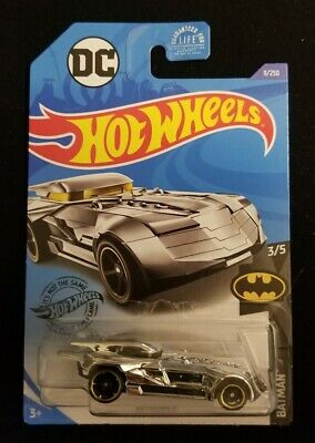 2020 Hot Wheels Batmobile #9 Chrome Batman 3/5 Brand New Near Mint