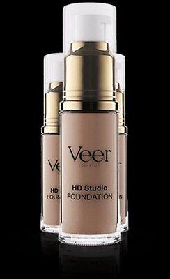 Cosmetics Liquid - Authentic Veer Cosmetics Liquid HD Studio Foundation Med Beige 0.68 fl oz 20 ml