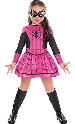 Toll Spider-Girl Klassisch Kostüm Größe S 4-6 Marvel Comics Neu Rosa 415