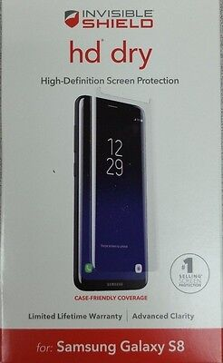 Zagg Invisible Shield Hd Dry For Samsung Galaxy S8   Clear   New