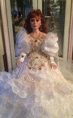 """A Rare 26"""" Rustie Porcelain Bride? Doll by Rustie With Mbi Mark"""