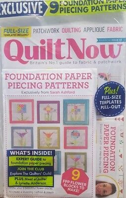 Free Quilt Paper Piecing (Quilt Now Rainbow Issue 53 Foundation Paper Piecing Patterns FREE SHIPPING)