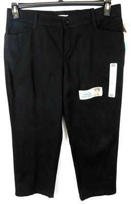 Lee black denim back pocket slit women's plus straight leg jeans 16S, - Back Slit Denim Jeans