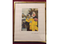 Rosina Wachtmeister GOLD FOIL SIGNED PRINT, in gold coloured metal frame
