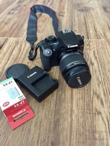 Canon Rebel XS dSLR sigh 18-55 IS lens with charger and battery