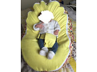 Baby Beanbag lemon with little birds on suitable from Birth -8years excellent condition