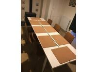 Large hard wood dining table
