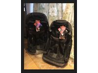 NEW Caribee Time Travellers Series Black Suitcase Luggage Backpack Set of 2