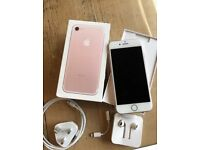 iPhone 7 rose gold 32gb excellent condition