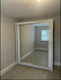 💥💯MIAMI 2 DOOR SLIDING WARDROBE WITH FULL PARRALEL MIRRORS, SUPER QUALITY ALL SHELVES RAILS