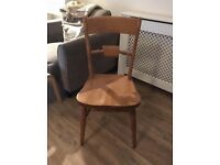 6 solid wood farmhouse chairs, excellent condition