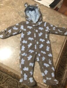 Baby fleece snowsuit