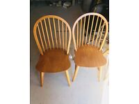 6 ercol style dining chairs