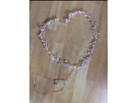 Next pink heart led wall decoration