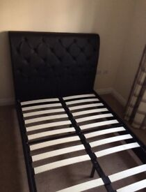 4ft faux leather bed frame