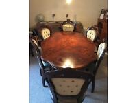 Dining table & 6 Chairs for sale - great up-cycling project