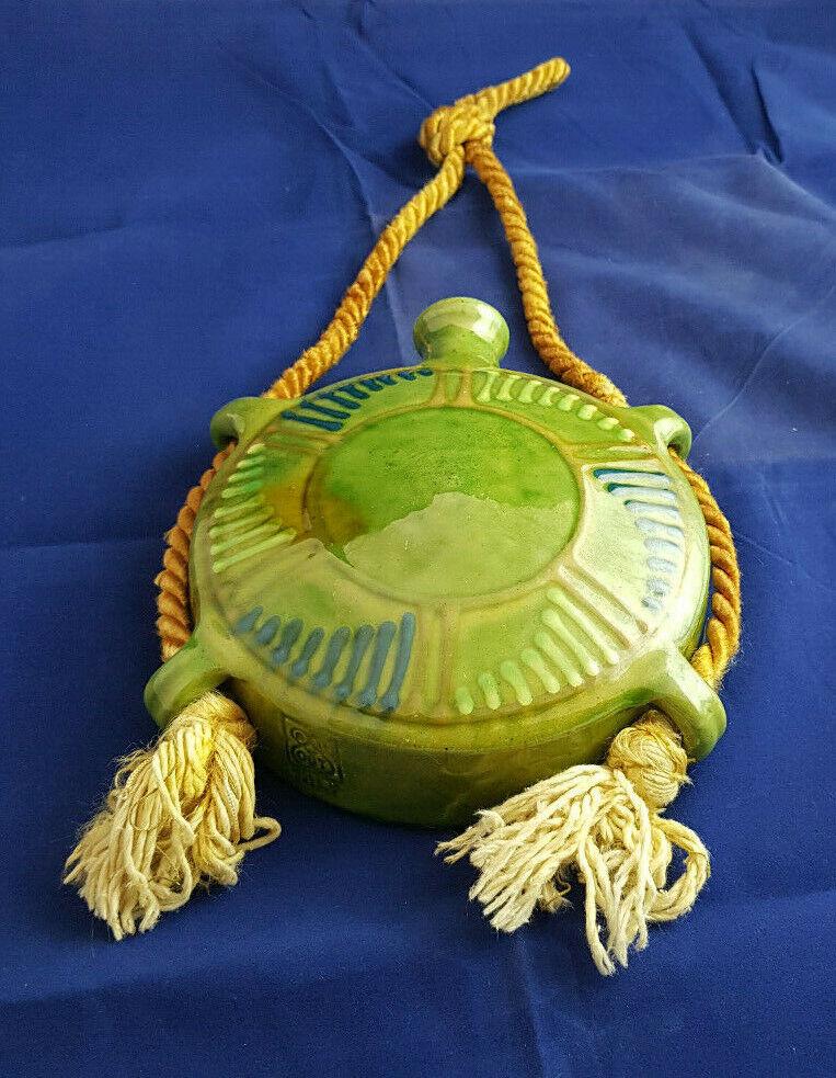 Ancienne gourde vase a suspendre valauris. Diamètre 16cm