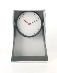 IKEA GNISSLA Table Clock 5 Black 10 Tall Stand Battery Operated New
