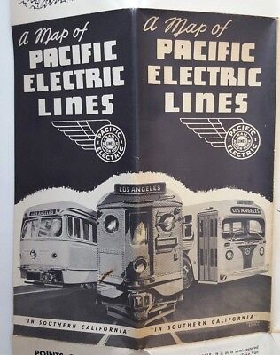(Pacific Electric Railway, February 1951, Large System Map 33X22