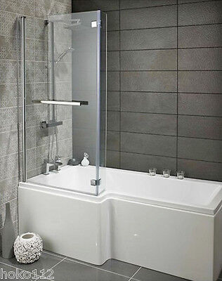 Badewanne SYNA 167,5x85/70cm Duschaufsatz,Schürzen und Ablaufgarnitur wählbar