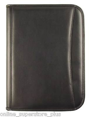 Executive Folder - DALIX Executive Faux Leather Padfolio Organizer Planner Notepad Folder New