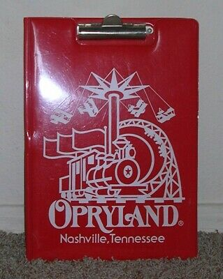 Vintageopryland Nashville Tennessee Red Vinyl Clipboard 1981