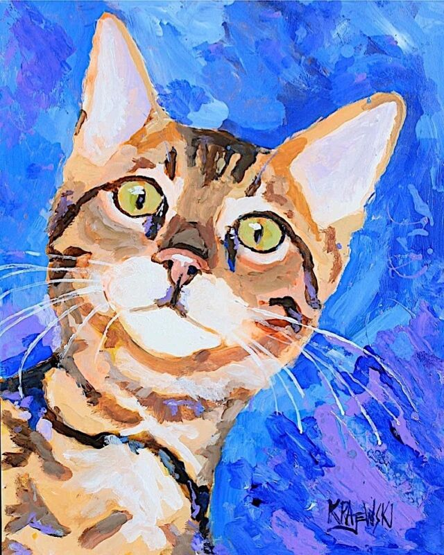 Bengal Cat Art Print Signed by Artist Ron Krajewski 8x10