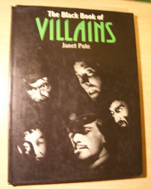 THE BLACK BOOK OF VILLAINS JANET PATE 1ST EDITION DAVID & CHARLES UK 1975 VGC