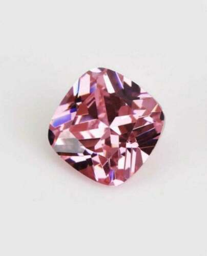 Pink Moissanite Diamond Loose 6.00 Ct Cushion Cut 10.00 MM VVS1 Clarity