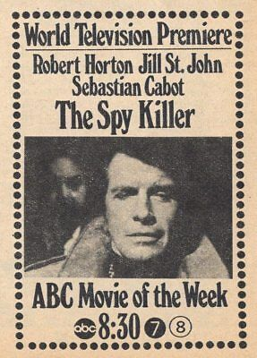 1969 TV AD~ROBERT HORTON in THE SPY KILLER~ABC MOVIE OF THE WEEK~not a DVD