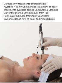 Dermapen Collagen Induction Therapy, Micro-Needling by a Registered Nurse performed in your own home