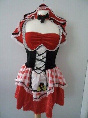 Tollen Sexy Rotkäppchen Erwachsenen Kostüm & Cape Gr. - Sexy Rot Erwachsene Kostüme