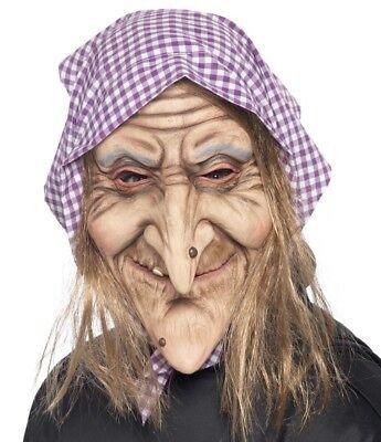 Halloween Kostüm Latex Old Witch Maske Hag Maske Ref 37194 von Smiffys - Ref Halloween Kostüm