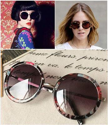 Floral Sunglasses ( Women's Vintage Floral Leopard Oversized Lennon Big Round Metal)