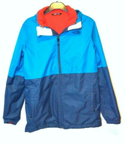 Boys Youth The North Face Dark Light Blue Red Dryvent 2-In-1 Coat Warm 18/20 XL